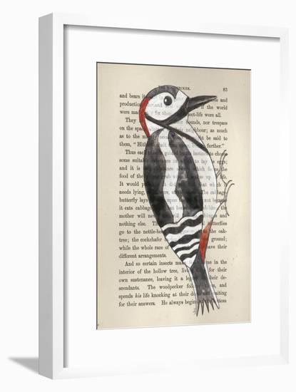 Great Spotted Woodpecker-Jane Wilson-Framed Giclee Print