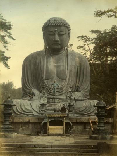 Great Statue of Buddha Daibutsu at Kamakura in Japan--Photographic Print