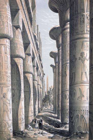 Great Temple, Karnac, Egypt, 19th Century-George Moore-Giclee Print