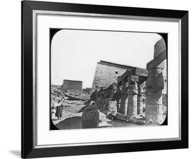 Great Temple, Luxor, Egypt, C1890-Newton & Co-Framed Photographic Print