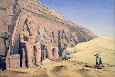Great Temple of Ramesses II, Abu Simbel, 1846-Louis M. A. Linant de Bellefonds-Giclee Print