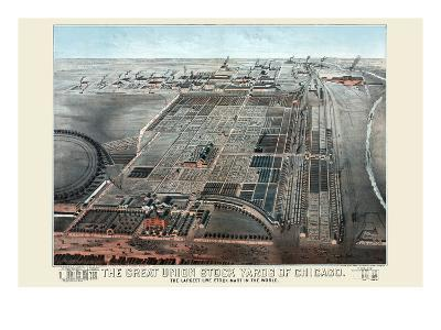 Great Union Stockyards of Chicago-Charles Rascher-Art Print