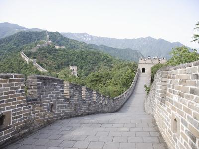 Great Wall at Mutyanyu, UNESCO World Heritage Site, Beijing, China-Angelo Cavalli-Photographic Print