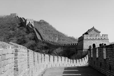 Great Wall in Black and White in Beijing, China-Songquan Deng-Photographic Print