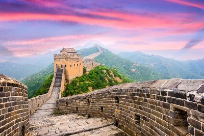 Great Wall of China at the Jinshanling Section.-SeanPavonePhoto-Photographic Print