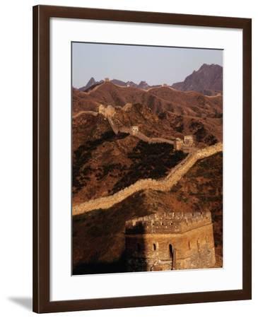 Great Wall of China Near Gubeikou, Jinshanling, Beijing, China-Diana Mayfield-Framed Photographic Print