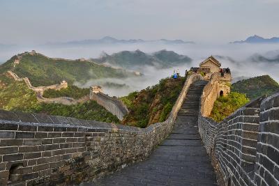 Great Wall of China on a Foggy Morning. Jinshanling, China-Darrell Gulin-Photographic Print