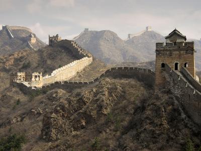 Great Wall of China-Sean Caffrey-Photographic Print