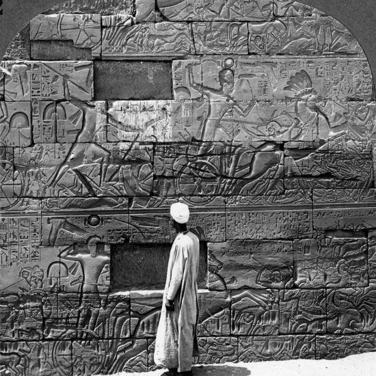 Great War Reliefs Sculptured in the Wall at Karnak Temple, Thebes, Egypt, 1905-Underwood & Underwood-Photographic Print