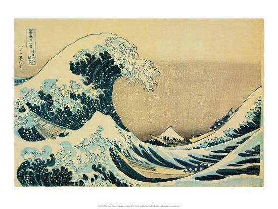 Great Wave Off Kanagawa-Katsushika Hokusai-Art Print