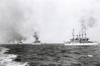 Great White Fleet Leaving for Tour around the World, 1907