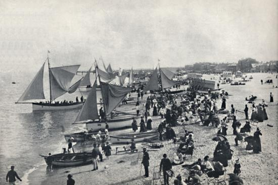 'Great Yarmouth - A Typical Scene on the Beach', 1895-Unknown-Photographic Print