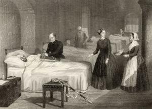In Scutari Florence Nightingale Assists While a Doctor Puts a Splint on a Patient's Arm by Greatbach