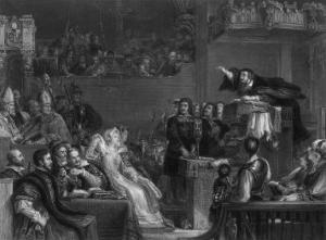 John Knox Preaches Before the Lords of the Congregation by Greatbach