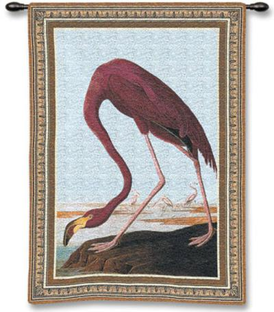 Greater Flamingo-John James Audubon-Wall Tapestry