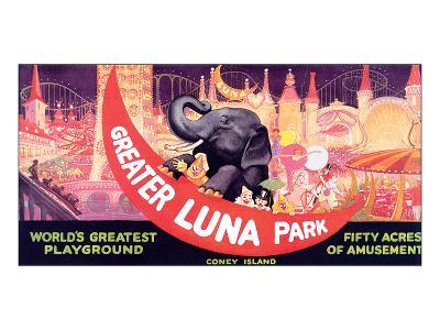 Greater Luna Park, The Worlds Greatest Playground--Art Print