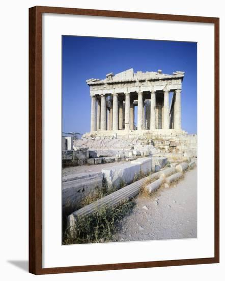 Greece, Athens, the Acropolis of Athens, West Facade of Parthenon,5th Century BC, Ancient Greece--Framed Giclee Print