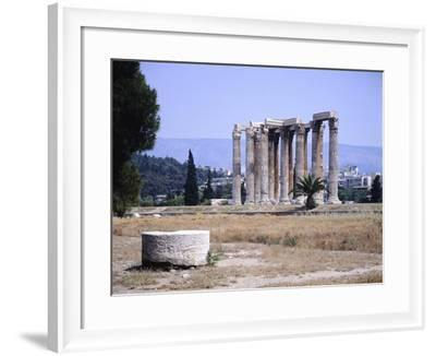 Greece, Athens, Zeus Olympus Temple,2nd Century Ad--Framed Giclee Print