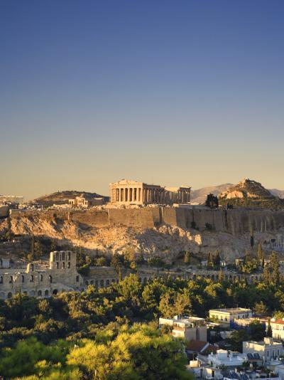 Greece, Attica, Athens, the Acropolis and Parthenon-Michele Falzone-Photographic Print