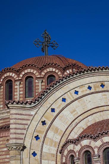 Greece, Central Macedonia, Thessaloniki, Town and Agios Pavlos Church-Walter Bibikow-Photographic Print