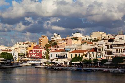 Greece, Crete, Agios Nikolaos, Lake Voulismeni-Catharina Lux-Photographic Print