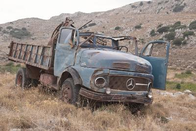 Greece, Crete, Chandras Plateau, Rusted Truck-Catharina Lux-Photographic Print