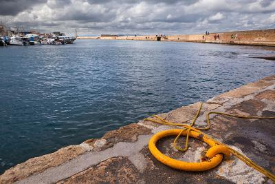 Greece, Crete, Chania, Harbour, Fixing Ring-Catharina Lux-Photographic Print