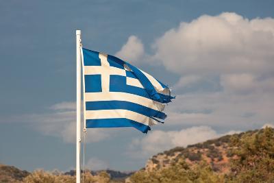 Greece, Crete, Flag, Torn, Symbolism-Catharina Lux-Photographic Print