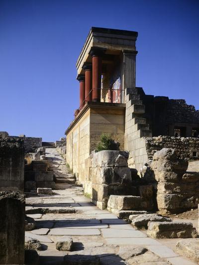 Greece, Crete, Foreshortening of Knossos Palace, Minoan Civilization, 16th Century BC--Giclee Print