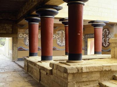 Greece, Crete, Guard's Courtyard at Northern Wing of Knossos Palace--Giclee Print