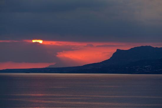 Greece, Crete, Libyan Sea, Sunset-Catharina Lux-Photographic Print