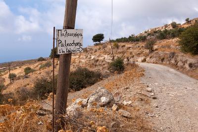 Greece, Crete, Omalos Plateau, Street to Paleochora-Catharina Lux-Photographic Print