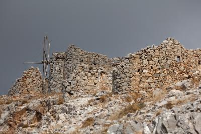 Greece, Crete, Pass of Ambelos, Windmills-Catharina Lux-Photographic Print