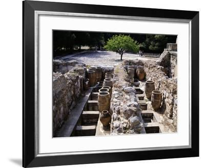 Greece, Crete, Storehouse on Western Side of Knossos Palace, Minoan Civilization, 16th Century BC--Framed Giclee Print