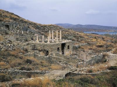 Greece, Cyclades Islands, Delos Island, House of Hermes--Giclee Print