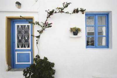 Greece, Cyclades Islands, Paros, Naoussa, Doorway of House-Walter Bibikow-Photographic Print