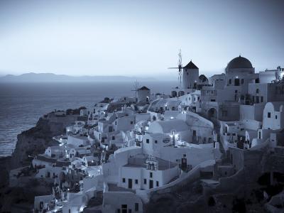 Greece, Cyclades, Santorini, Oia Town and Santorini Caldera-Michele Falzone-Photographic Print