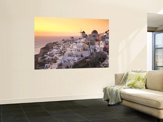 Greece, Cyclades, Santorini, Oia Town and Santorini Caldera-Michele Falzone-Wall Mural