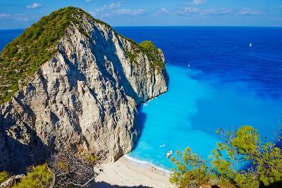 Greece, Ionian Island, Zante Island, Shipwreck Beach-Tuul And Bruno Morandi-Photographic Print