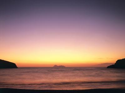 Greece, Island Crete, Matala, Bay, Islands, Sea, Evening Mood-Thonig-Photographic Print