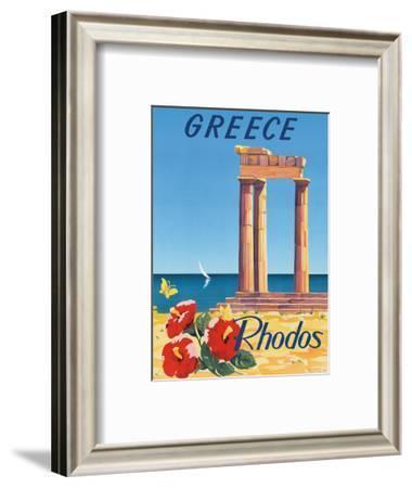 Greece - Rhodes - Monte Smith - Temple of Apollo (Acropolis of Rhodes)-C. Neuria-Framed Art Print