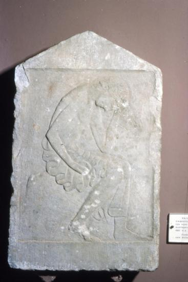 Greece, Sparta, Funeral relief from Geraki in Severe Style, c5th century BC-Unknown-Giclee Print