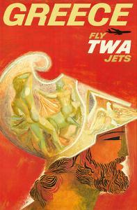Greece - Trans World Airlines Fly TWA Jets - Greek Warrior