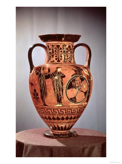 Greek Black-Figure Amphora Depicting Demeter, Persephone and Apollo--Giclee Print
