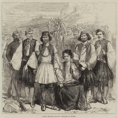 Greek Brigands Brought Prisoners to Athens--Giclee Print