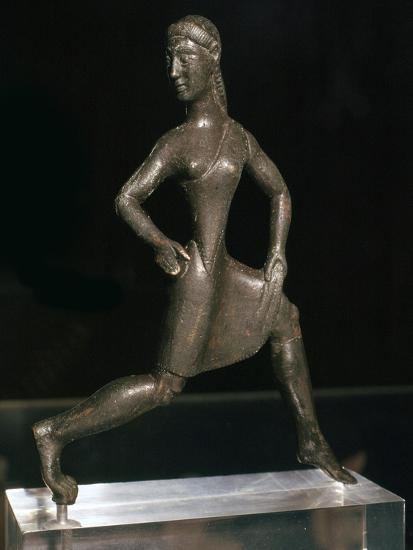 Greek bronze of a girl runner, 6th century BC-Unknown-Giclee Print