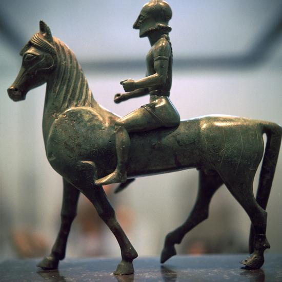 Greek bronze of a horseman-Unknown-Giclee Print