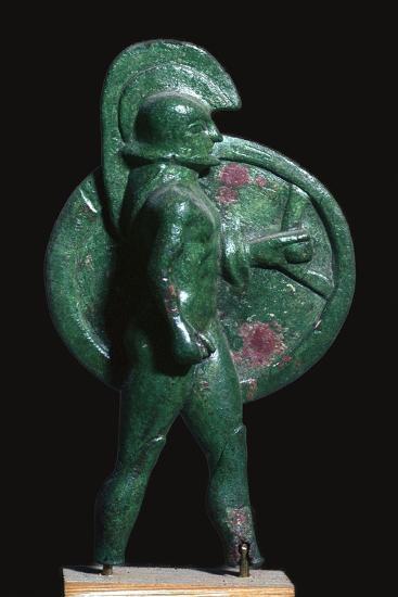 Greek bronze of a warrior, 6th century BC. Artist: Unknown-Unknown-Giclee Print