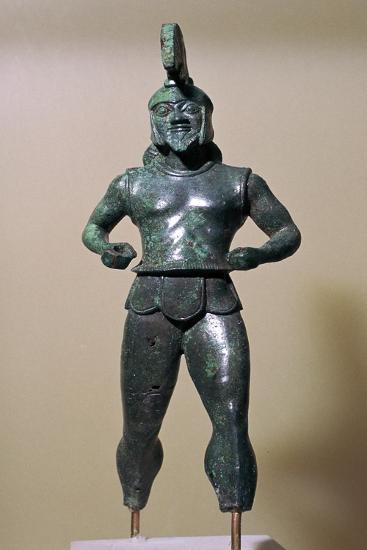 Greek bronze warrior from Dodona, 6th century BC. Artist: Unknown-Unknown-Giclee Print