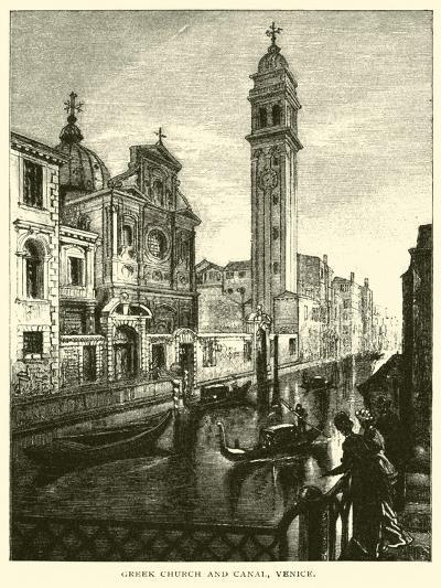 Greek Church and Canal, Venice--Giclee Print